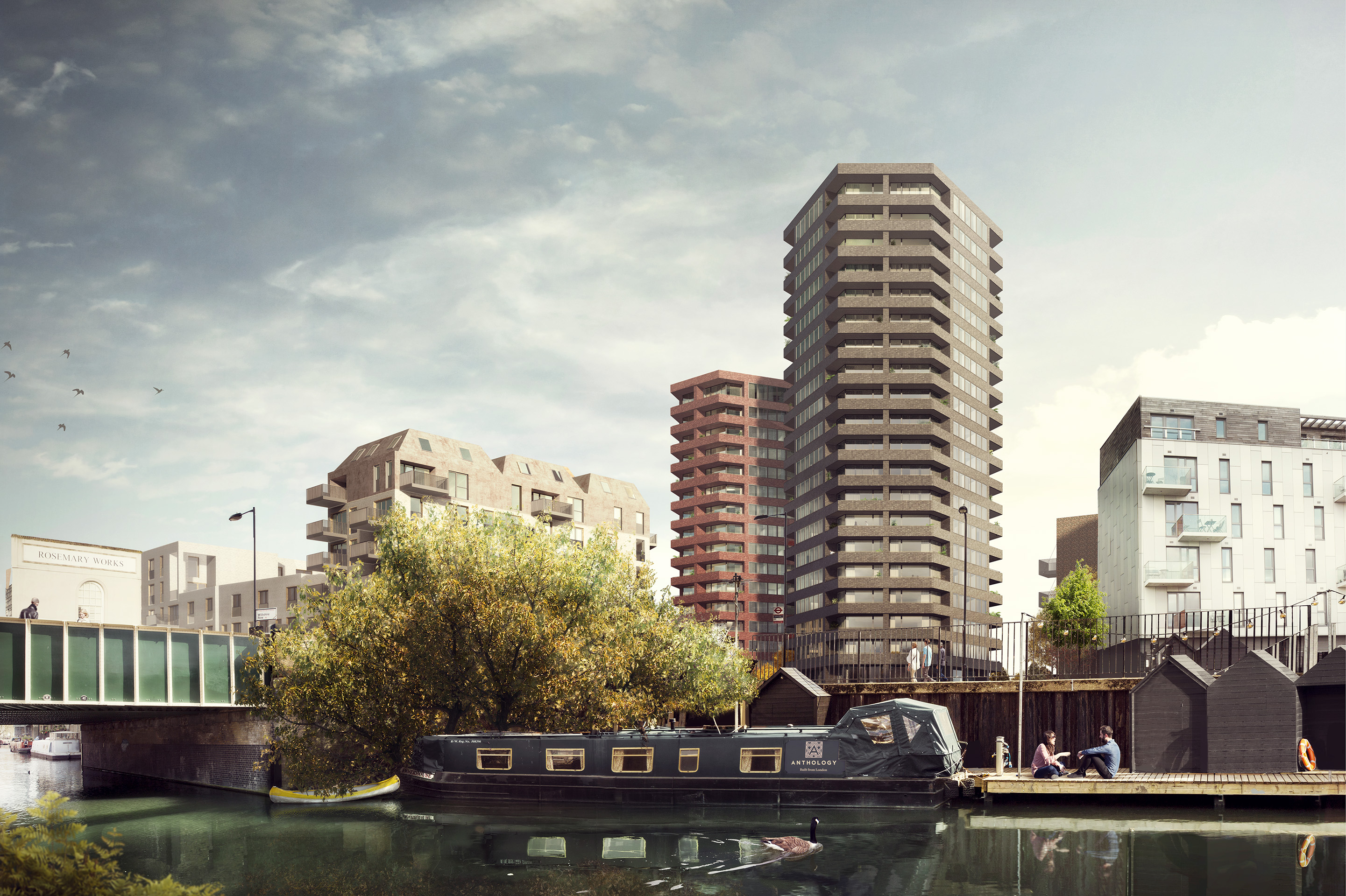 Anthology's Hoxton Canal-side site